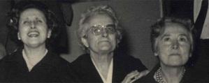 Carmen García del Diestro, Jimena Menéndez Pidal y Ángeles Gasset