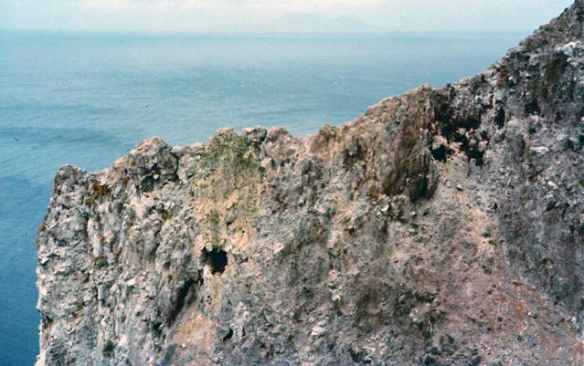 Redonda 1984 (with about 6 feral goats barely visible just to the right of the middle)